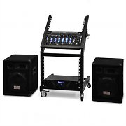 DJ PA 'Mercury Beat' Rack System Amplifier Speakers Mixer 1200