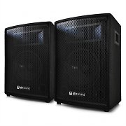 "Pair QTX 15"" DJ PA 2-Way Passive Speakers - 600W Max"