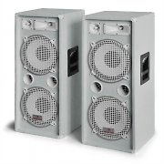 "Pair Auna PW-2222 2000W DJ PA Speakers 3-Way 2 x 12"" - White"