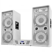 "DJ PA System White Star ""Arctic Ice"" Speakers & Amplifier Set 2000W"