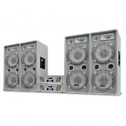 DJ PA System White Star Series 'Arctic Ice Pro' 4000W Set