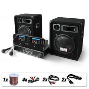 Complete DJ PA Package - 'Bass Boomer Dual CD' 800W Speakers Mixer