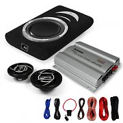 "2.1 ""Monza"" In Car HiFi Audio Amplifier Subwoofer Speaker Bundle Set - 1200W"