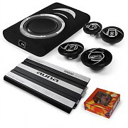 4.1 &quot;Suzuka&quot; HiFi In Car Audio Amplifier Speaker Underseat Subwoofer Set