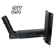 2 x Skytec PA Speaker Wall Mounting Brackets - 15kg Load Each