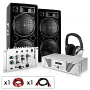 "DJ PA System ""NY Fireblade""  - Amplifier Speakers Mixer 2000W"