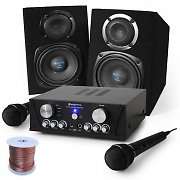 "Karaoke 'Capri Star"" PA DJ Speakers, Microphones, 400W Set"