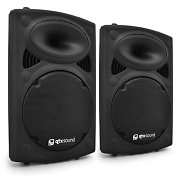 "QTX QR15A Active DJ PA Speakers 15"" XLR ABS - 1000W Pair"