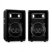"Malone PW-0822 Passive 8"" DJ PA 3-Way Speakers - 600W Pair"