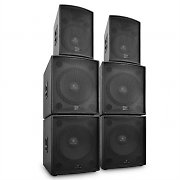 "Auna ""Phidias"" Professional DJ PA Active Speaker Set 6 parts 12,000W"