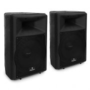 "Pair Auna PW-EV-12A 12"" Active DJ PA Speakers 1100W ABS"