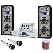 "DJ PA System ""Polar Bear"" Amp, Speakers, Mixer Package 2200W"