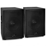 "Malone PW-15A-M Pair of 15"" Active Subwoofer Speakers 4000W Max."