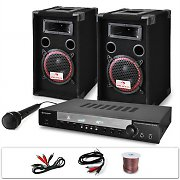 "DJ PA System ""DJ-10"" Set 1000W Speakers Amplifier Microphone"