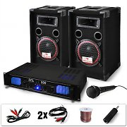 DJ PA System 'DJ-14' PA Amplifier&amp; Speaker Set 1000W
