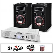 "PA System ""DJ-15"" Amplifier Speakers Bundle 1000W"