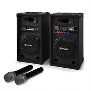 Karaoke System Star-10 10&quot; PA Speaker &amp; Wireless Microphone Set