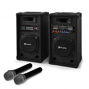 "Karaoke ""Star-8"" PA Speaker Wireless Microphone 600W Set"