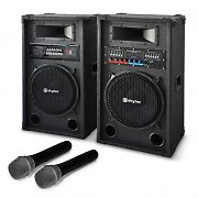 Karaoke 'Star-12' PA Speaker System Wireless Microphone 1200W