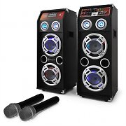 """STAR 22"" Karaoke Party PA System Speaker & Microphone Set 600W"