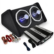 Car Audio HiFi System 'Black Line 140' Subwoofer, Amplifier 4000W Set