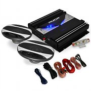 'Black Line 220' Car Stereo System Amplifier Speakers 1400W