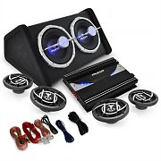 4.1 'Black Line 520' Car Hifi Stereo System Amplifier Subwoofer Set 5000W