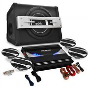 4.1 Car HiFi System 'Black Line 580' Amplifier Speaker Set