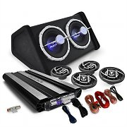 4.1 Hifi System 'Black Line 620' Car Amplifier Subwoofer Set 10000W