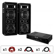 DJ Equipment 'DJ-24' 1200W  PA Amplifier Speakers Package