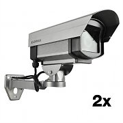 Pair Dummy Surveillance Video Camera Set - Security Cams
