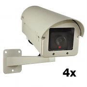 DuraMaxx Cerberus Maxi Dummy Outdoor Surveillance Camera x 4