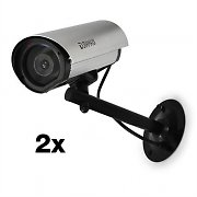 DuraMaxx Dummy Outdoor Surveillance Camera CCTV Pair