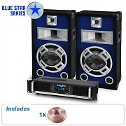 PA  System Blue Star Series Beatbass I 800W Speakers &amp; Amp Package