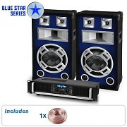 PA System Blue Star Series 'Beatbass II' 1200W Speakers & Amp Package