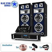 PA System Blue Star Series Beatmix 1200W Speaker &amp; Amp Package
