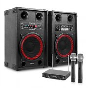 Karaoke PA System 600W Active Speakers Wireless Mics
