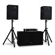 "2.1 DJ PA ""Volume 1"" Amplifier Subwoofer Speakers Stand Set"