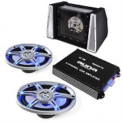 Car HiFi Sound System Beat Pilot FX-212 Speaker Amplifier Set