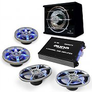 "Auna Hifi In Car Audio ""Beat Pilot FX-413"" Speaker Amplifier Subwoofer Set"