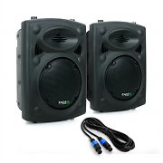 "Ibiza SLK Pair PA Speakers 2x 20cm (8"") Master Slave 600W USB SD MP3"