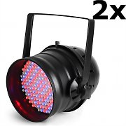 Ibiza LP64LED-Promo PAR64 Set of 2 LED Spotlights DMX 20W