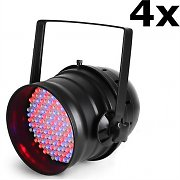 Ibiza LP64LED-Promo PAR64 LED Spotlights DMX 4x Set 20W