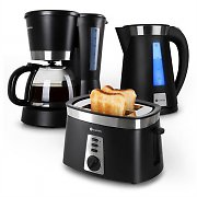 Klarstein Sunday Morning Breakfast Set Coffee Machine Kettle & Toaster