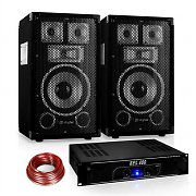 "Disco ""Warm Up Party"" PA Set 400W DJ Amplifier 8"" Speaker Pair"