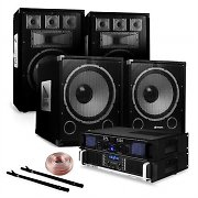 "2.2 PA Set ""Clubnight""  2x 12"" Speakers 2x 15"" Subwoofers and 2x Amplifiers"