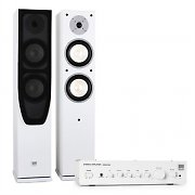 Koda White HiFi Home Cinema System Amplifier & Design Speakers White