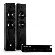 KODA Black HiFi Home Cinema System Amplifier & Black Design Boxes