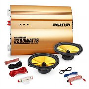 "Auna 2.0 Golden Race V3 Car HiFi Set 6x9"" Speakers & Amplifier"