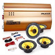 Auna 4.0 Golden Race V4 HiFi Car Stereo Sound System Set